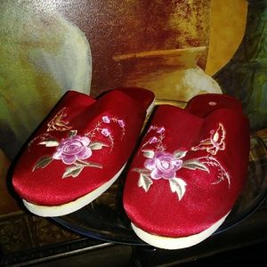 Red Satin Slippers